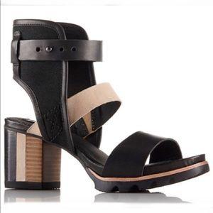 Sorel Addington Cuff Ankle Strap Stacked Sandal